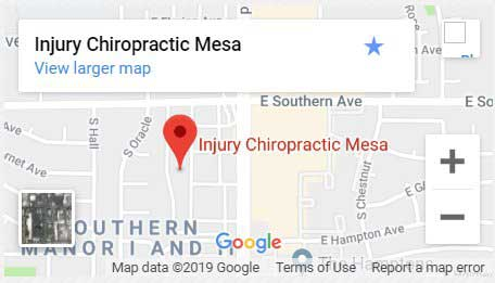 Injury Chiropractic Mesa Map